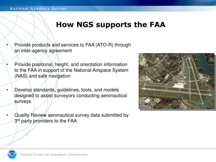 How NGS supports the FAA
