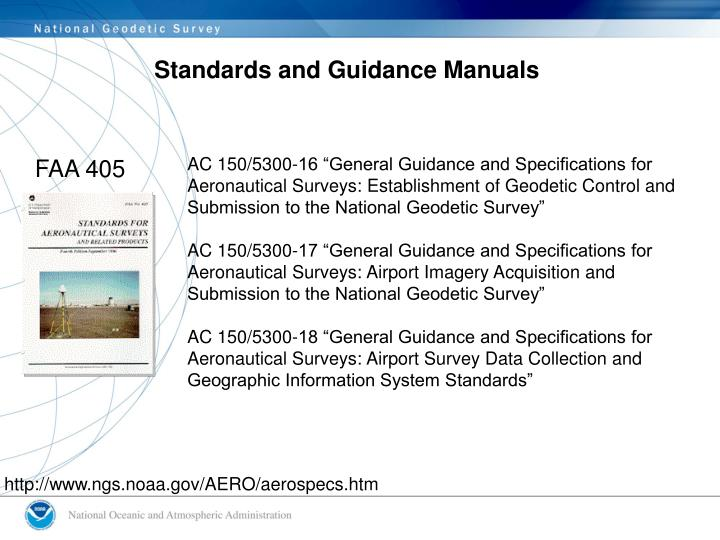 Standards and Guidance Manuals