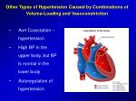 other types of hypertension caused by combinations of volume loading and vasoconstriction