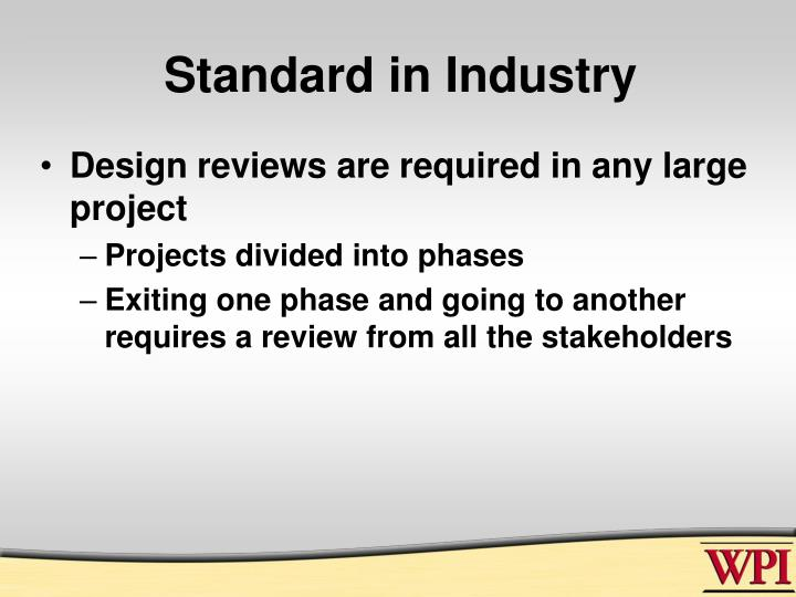 Standard in Industry