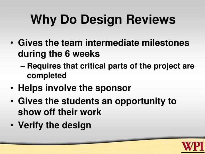 Why do design reviews