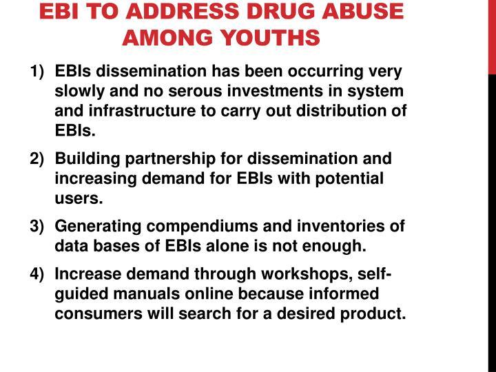 EBI to address drug abuse among youths