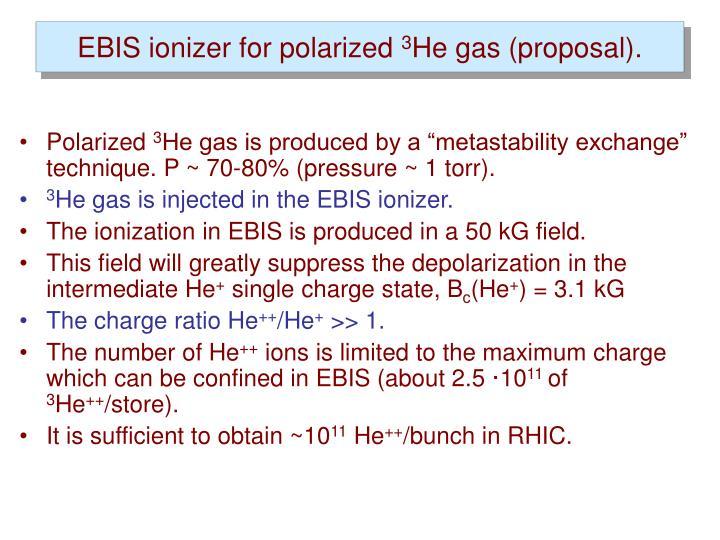 EBIS ionizer for polarized