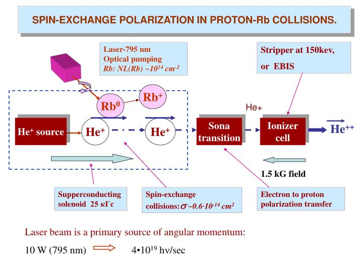 SPIN-EXCHANGE POLARIZATION IN PROTON-Rb COLLISIONS.