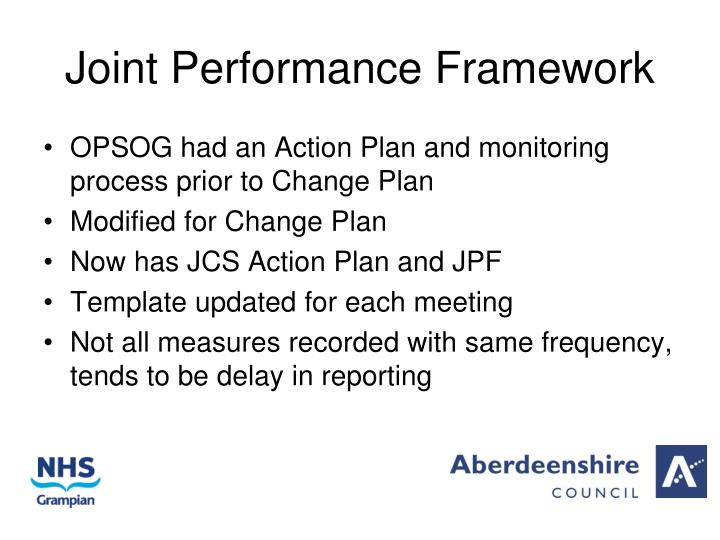 Joint performance framework