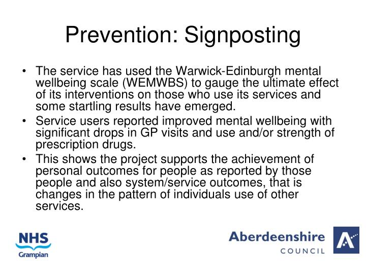 Prevention: Signposting
