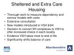 sheltered and extra care housing