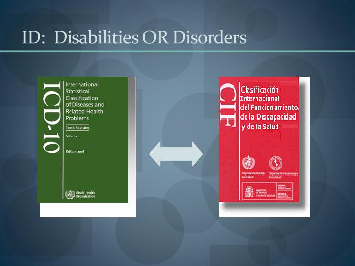 ID:  Disabilities OR Disorders