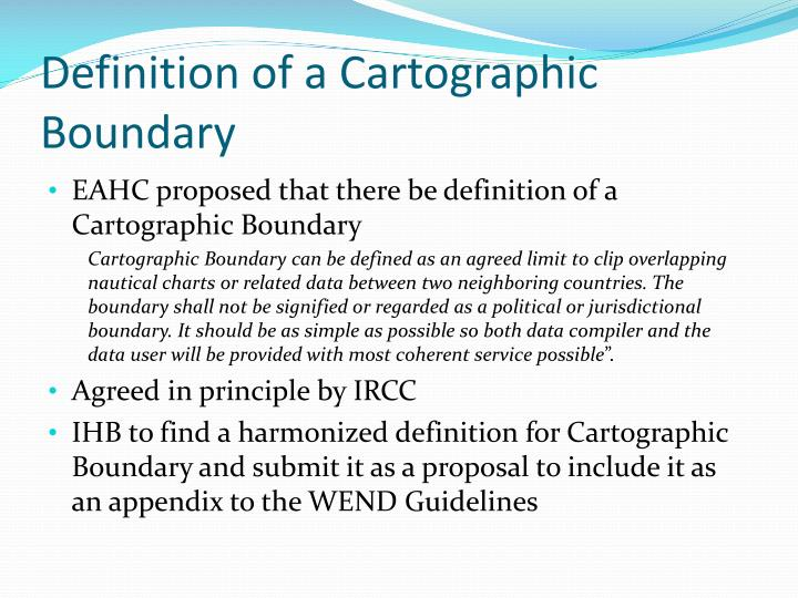 Definition of a Cartographic Boundary