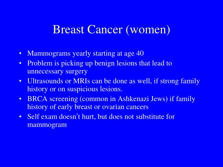 Breast Cancer (women)