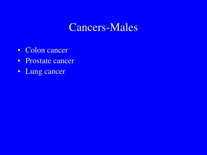 Cancers-Males