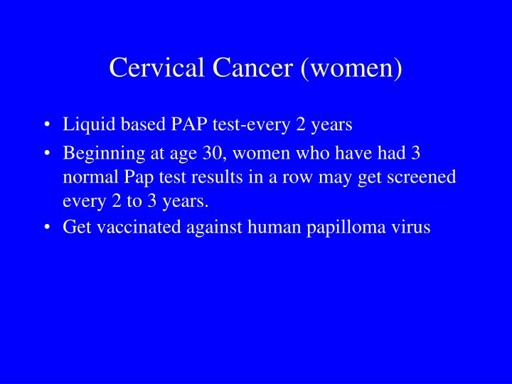 Cervical Cancer (women)