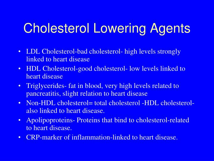 Cholesterol Lowering Agents