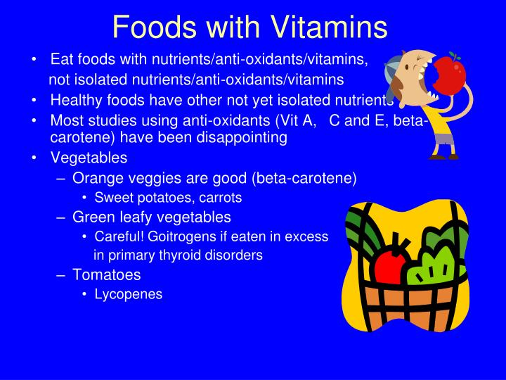 Foods with Vitamins
