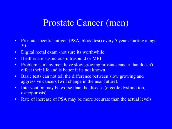 Prostate Cancer (men)