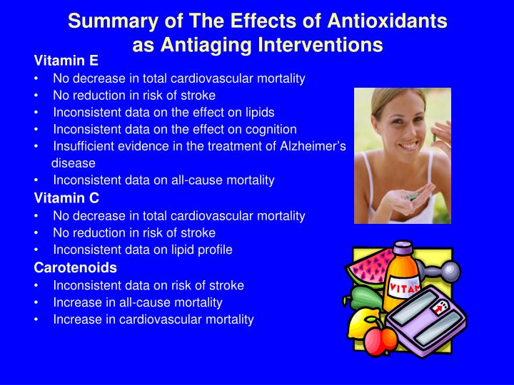 Summary of The Effects of Antioxidants