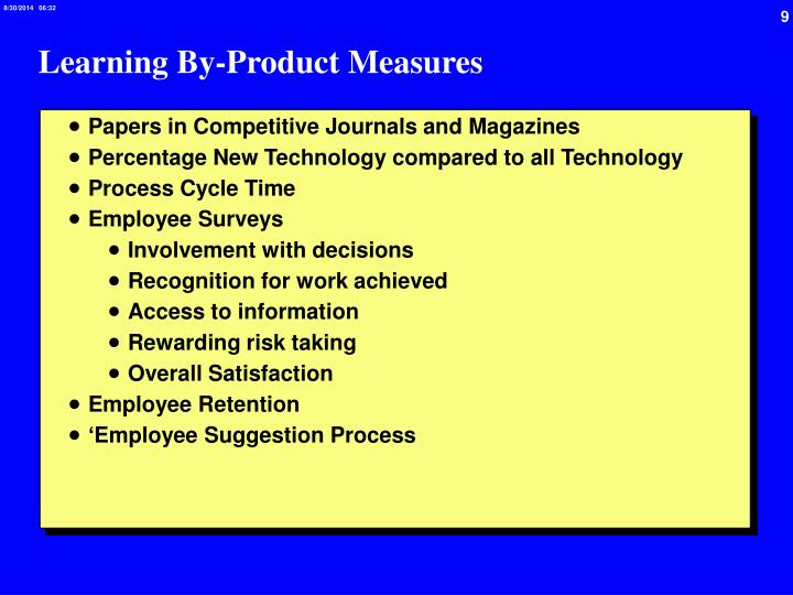 Learning By-Product Measures