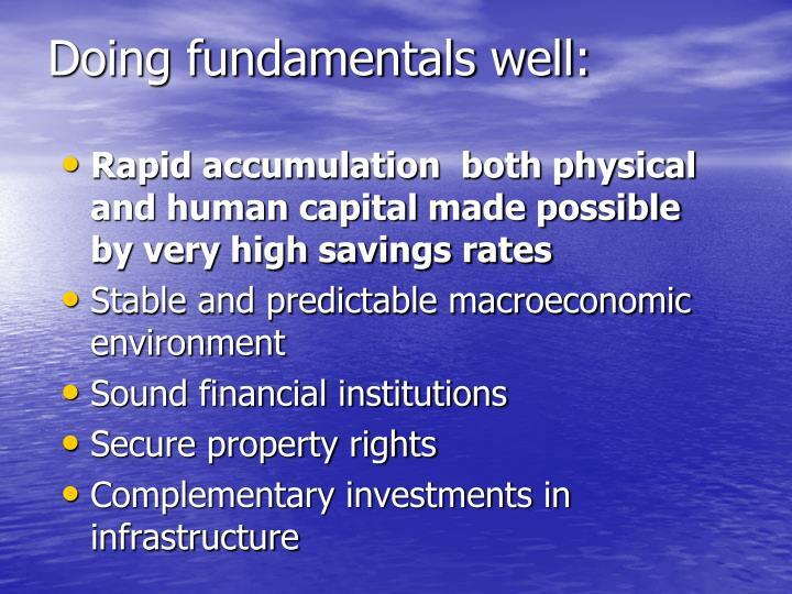 Doing fundamentals well: