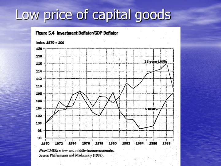 Low price of capital goods