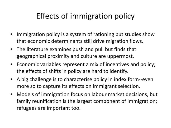Effects of immigration policy