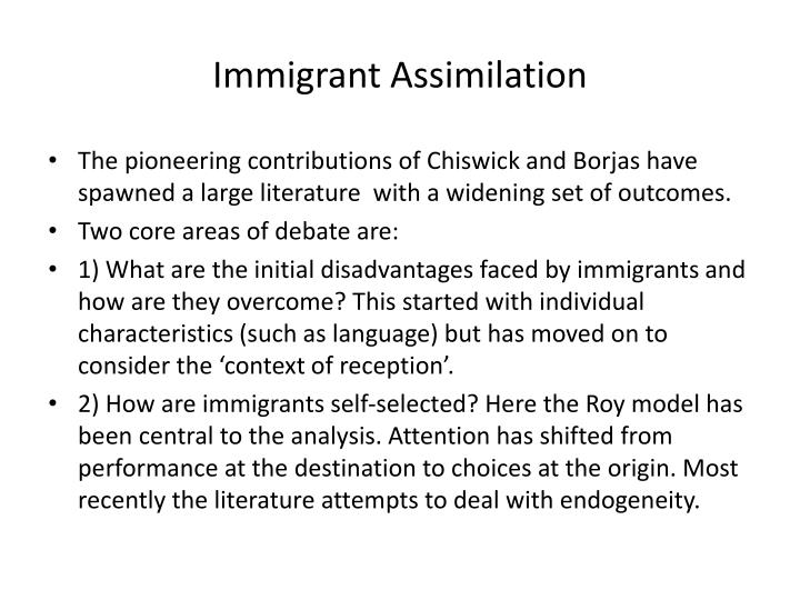 Immigrant Assimilation