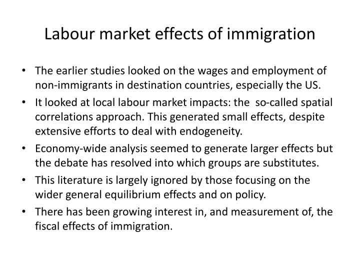 Labour market effects of immigration