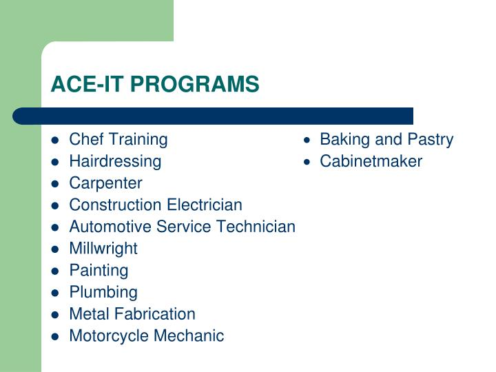 ACE-IT PROGRAMS