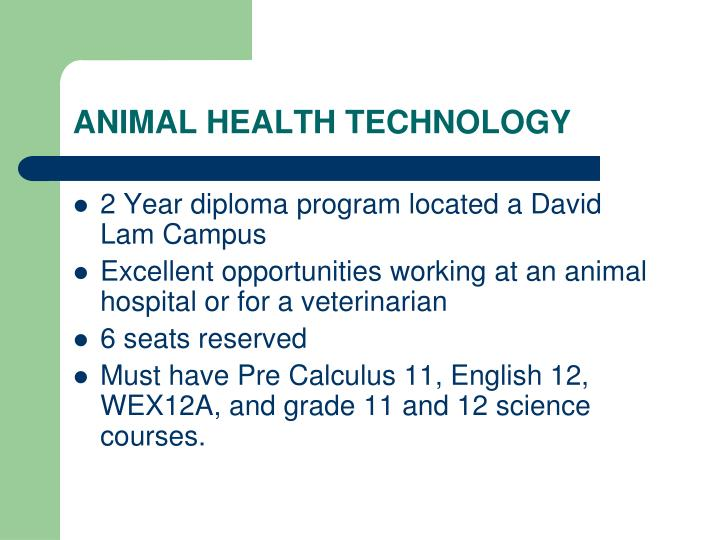 ANIMAL HEALTH TECHNOLOGY
