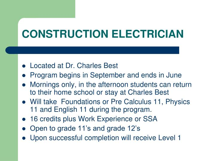 CONSTRUCTION ELECTRICIAN