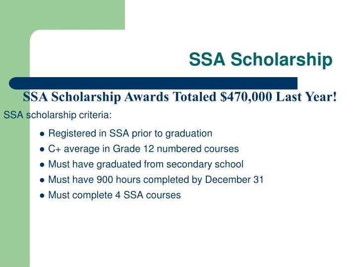 SSA Scholarship