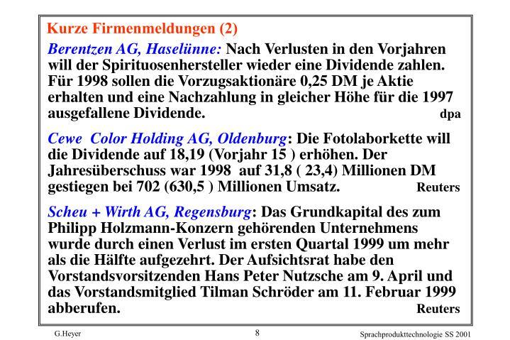 Berentzen AG, Haselünne: