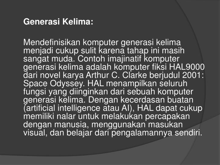 Generasi Kelima: