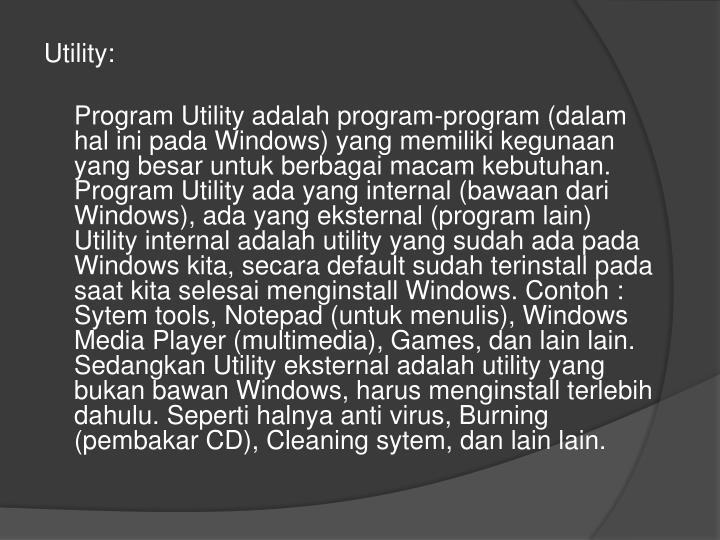 Utility: