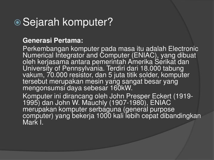 Sejarah komputer?
