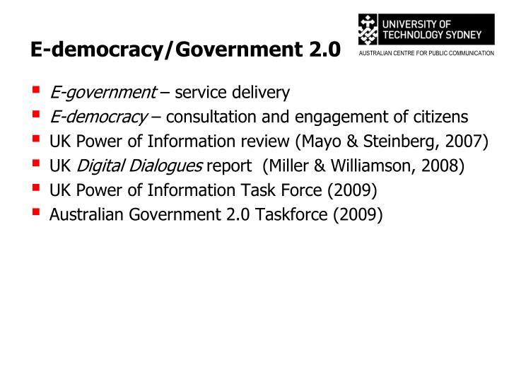 E-democracy/Government 2.0