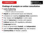 findings of analysis on online consultation