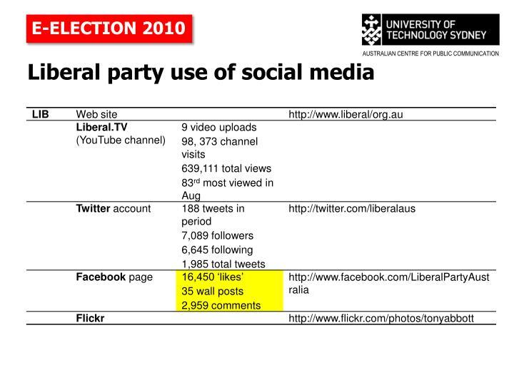 E-ELECTION 2010