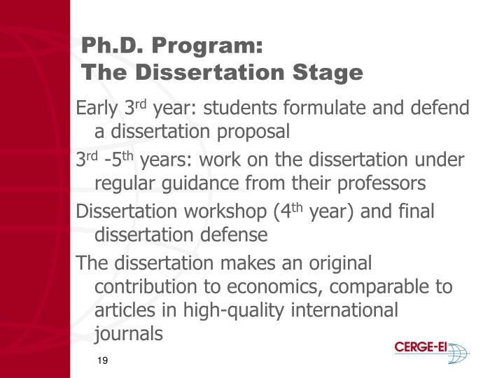 Ph.D. Program: