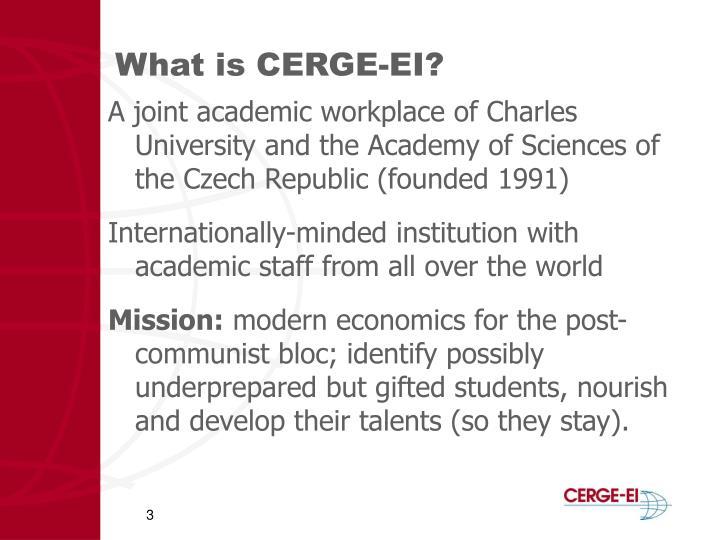What is CERGE-EI?