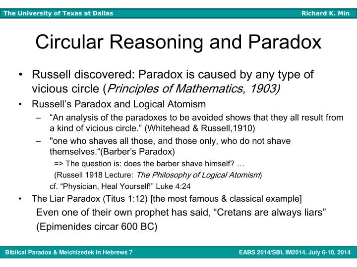 Circular Reasoning and Paradox