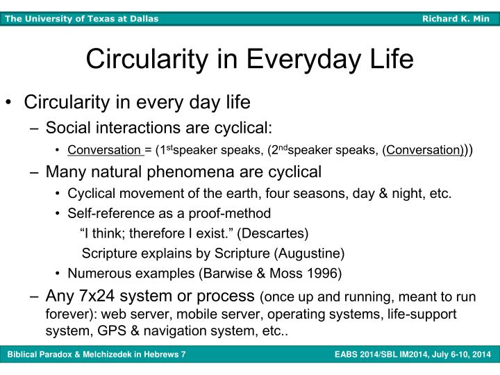 Circularity in Everyday Life