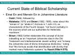 current state of biblical scholarship