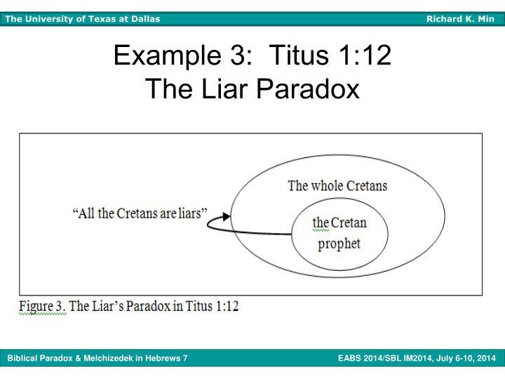Example 3:  Titus 1:12
