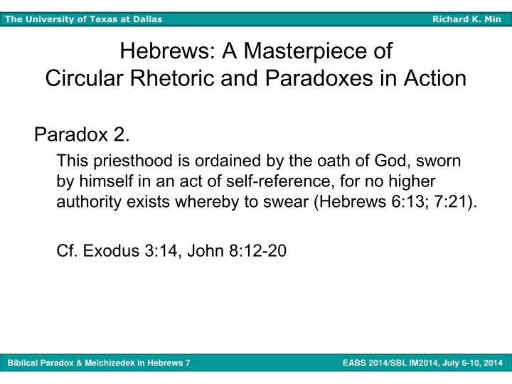 Hebrews: A Masterpiece of