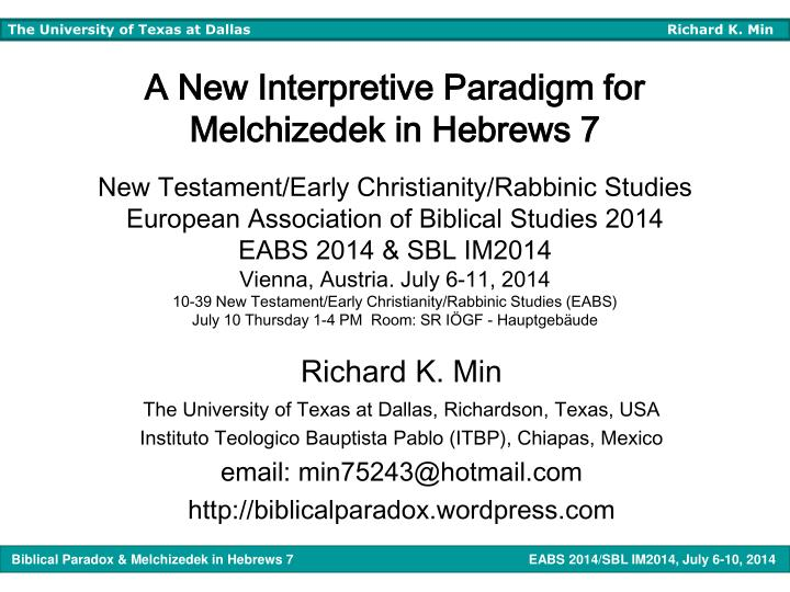 A New Interpretive Paradigm for