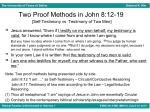 two proof methods in john 8 12 19 self testimony vs testimony of two men1
