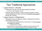 two traditional approaches