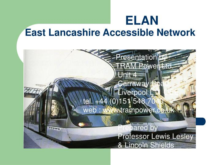 Elan east lancashire accessible network
