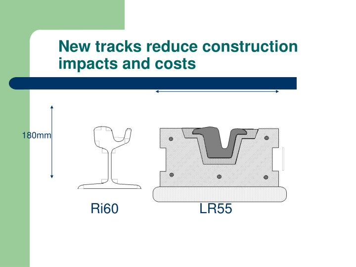 New tracks reduce construction