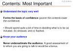 contents most important
